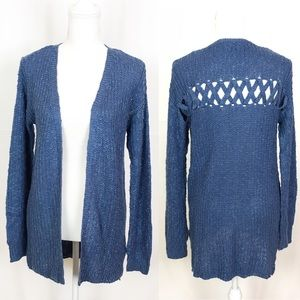 Charming Charlie's Blue Open Cardigan | Small